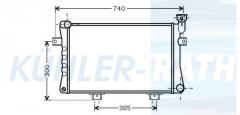 Lada radiator (212131301012)