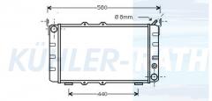 Skoda radiator (113610502)