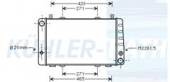 Skoda radiator (6U0121251C 007401407)