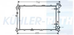 Hyundai radiator (2531033150 2531033180)