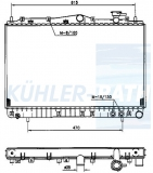 Hyundai radiator (2531034000)