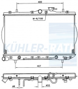 Hyundai radiator (2531022250)