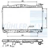 Hyundai radiator (2531029700 2531029750)