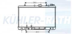 Hyundai radiator (2531023350)