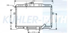 Hyundai radiator (253104B150)
