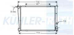 Hyundai radiator (253104A000)