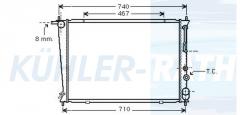Hyundai radiator (253104A050)
