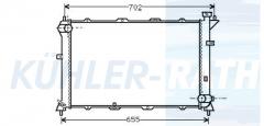 Hyundai radiator (2531033000 2531033130)