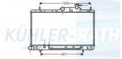 Hyundai radiator (2531025100 2531025101 2531025150 2531025151 2531025152)