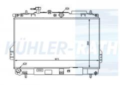 Hyundai radiator (2531017000 2531017001 2531017002 2531017050)