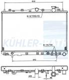 Hyundai radiator (2531034050)