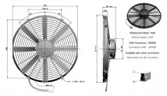 T5/T5K 24V ziehend fan (84073040048 90050132 8407.304.0048)