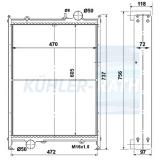 Fendt/Deutz radiator (G31220050010 G312200050010 G199204050018 G1990204050018)
