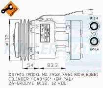 Massey Ferguson/Agco Kompressor (3763384M91 3779466M1 SD7H157952 SD7H157960 SD7H158056 SD7H158088 SD