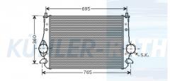 Ford/Seat/VW Ladeluftkühler (7M3145804 3M219L440AA 1212577)