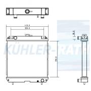 Kubota/Yanmar/John Deere/Iseki Wasserkühler