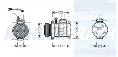 BMW compressor (64528385917 64528390336 64528390741 64528390743 64528385915 64528385909 64528385908