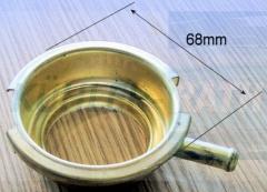 Messing Ø 68mm mit Röhrchen Unterteil