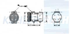 Ford compressor (94GW19D629BA 1035431 96BW19D629BA)