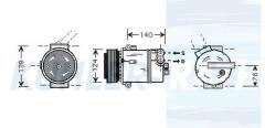 Opel compressor (1854113 6854025 09132925)