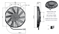 T2 24V ziehend fan (84073040167 90050313 8407.304.0167)