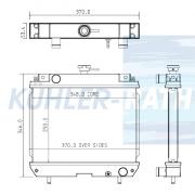 Yanmar/Kobelco Wasserkühler