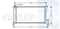 Opel Wasserkühler (4707172 09214213 1770084E50)