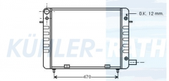Opel Wasserkühler (1302032 90200371)