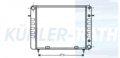 Opel Wasserkühler (1302036 90200493)