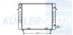 Opel Wasserkühler (1302039 90200496)