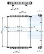 DAF/Bova/Iveco/Solaris Wasserkühler (1426673 1451570 1451570R 500021187 5006009384 0321030451 032103