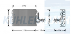 Verdampfer passend für VW (357820103 176271103A)