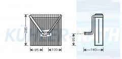 Verdampfer passend für Skoda/Seat/VW (6Q0820103 6Q0820103B 6Q0820103C 6Q0820103D)