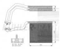 Verdampfer passend für Audi/Seat (8E1820103A)