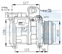 Iveco/Astra Kompressor (500341617 500391499 99488569 504385146)