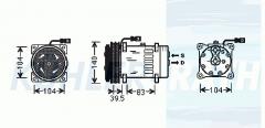 Massey Ferguson/Agco/Claas Kompressor (3157920 3712528M2 3782613M2 SD7H158088 SD7H157952)