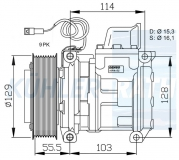 Mercedes-Benz compressor (0002340811 5412300011 5412300111 5412301011 A0002340811 A5412300011 A54123