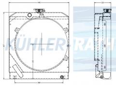 Kubota/Moffett/Stephill radiator