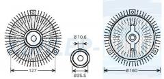 Mercedes-Benz visco clutch (1032000022 1032000222 1032000322 1032000422 A1032000022 A1032000222 A103