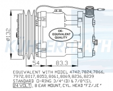 Sanden/Svetruck/Volvo compressor (110073145 7147505680 11007314 11058974 1303484 8113622 8113627 815