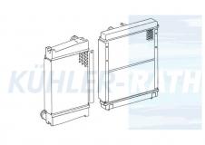 Multicar/Unimog/Hako combi cooler (4095000100 A4095000100 01010220000 0101.022.0000)