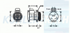 Mercedes-Benz compressor (0002301511 A0002301511 4471002160)