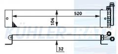 Iveco/Mercedes-Benz oil cooler (93155695 A0015016401 0015016401)