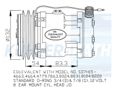 JCB/Deutz/Valtra-Valmet/Ford/New Holland/Claas/Case IH compressor (47742400 82011594 84011595 840180
