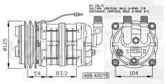 Seltec/Tama/Kalmar Kompressor (48845015 MSG7012106051 9236920005 9326920006 81619066007)