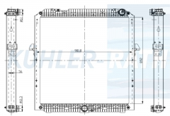 Mercedes-Benz radiator (A9605002601 9605002601)