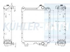 Case IH/New Holland/Steyr radiator (87574206)