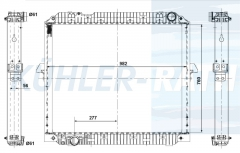 Mercedes-Benz radiator (A9605003401 9605003401)