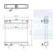Wasserkühler passend für Atlas/Terex/Mitsubishi/Kubota/Schaeff