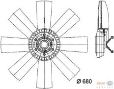 Volvo visco fan (8149394 8112950)
